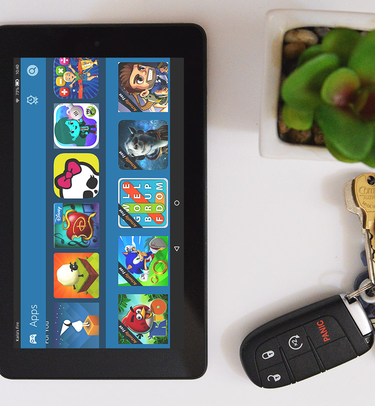 Amazon Fire Tablet FreeTime app for kids