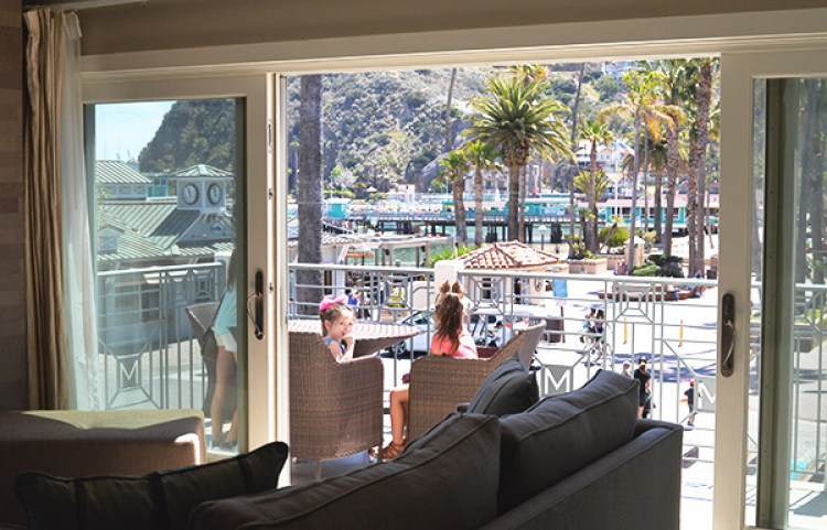 metropole catalina islands ca view of beach from living room