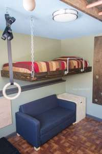 How to Build a Hanging Bed for Under $100 (Suspended Bed ...