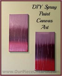 DIY Spray Paint Canvas Art
