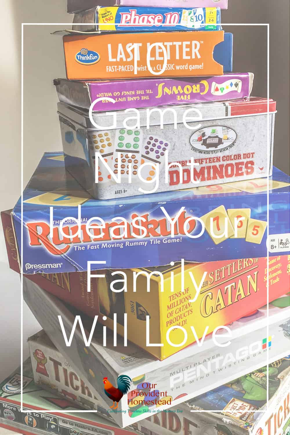 Do you love game nights with your family? We have ten game night ideas your family is sure to love and keep coming back for! #familytime #familynight #gamenight