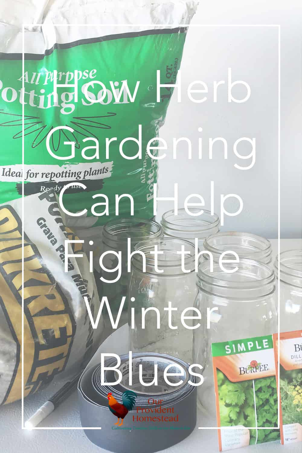 Do you have the winter blues? Herb gardening can help fight the winter blues and let you enjoy gardening again while you wait for spring. Herb Gardening | Winter Blues | Growing Herbs