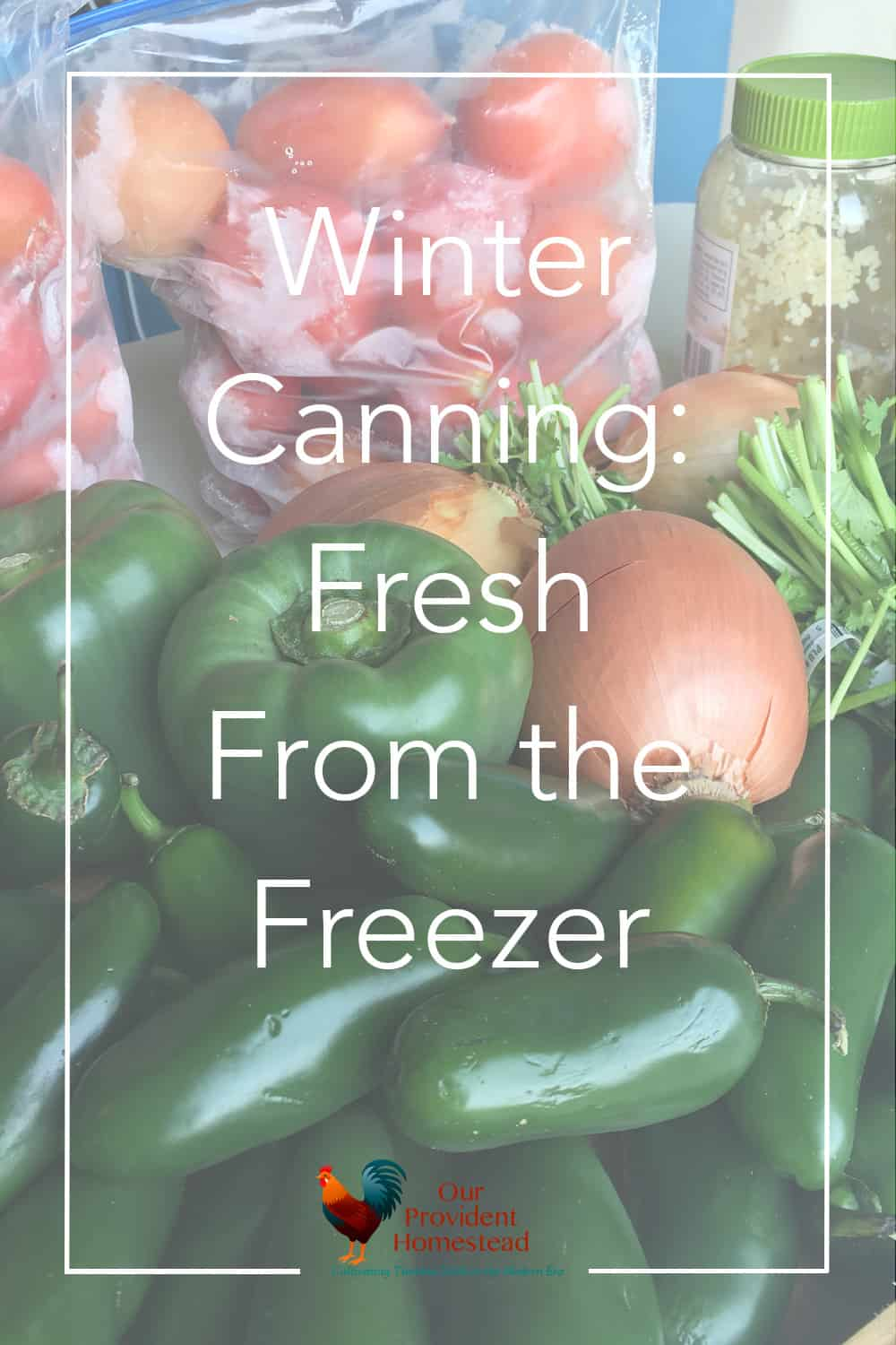 Do you have a freezer full of last year's harvest? We have two recipes that might help you do some winter canning to empty your freezer for spring. Winter Canning | Freezing the Harvest