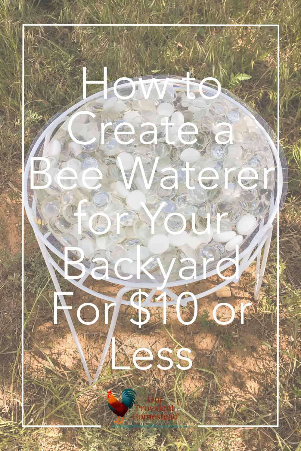 Have you thought of making a bee waterer for your garden? It is a cheap and simple way to help the bees and butterflies stay hydrated every day. Bee Waterer | Garden Ideas | Save the Bees