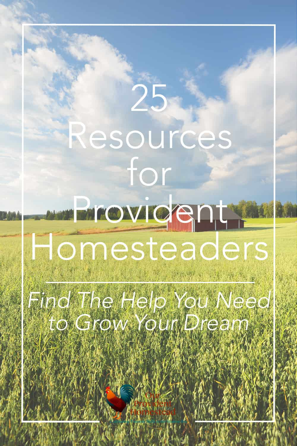 Do you need help for your new homestead? Click here for 21 resources for provident homesteaders to help you find the information you need. #homesteading #homesteadingforbeginners #homestead #homesteadingideas #homesteadinggoals #homesteader