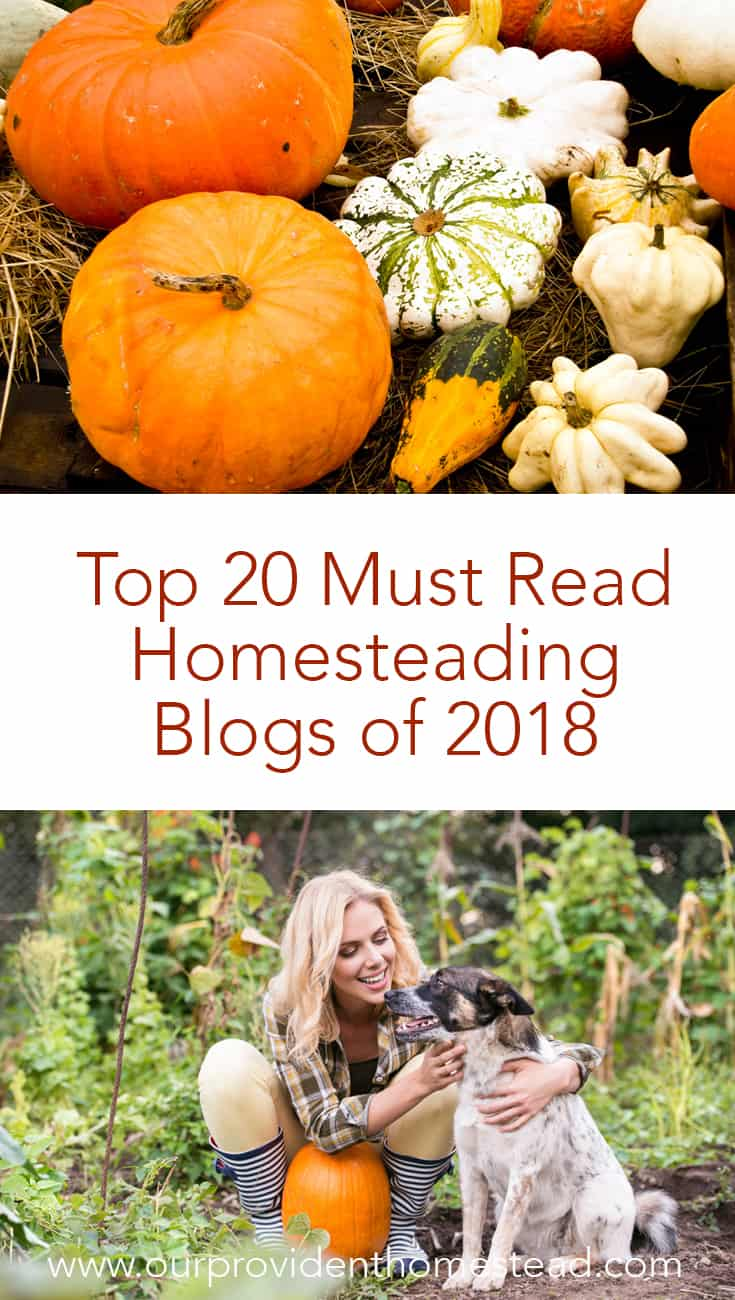 Do you love to follow homesteading blogs? Click here to see a great list of must read homesteading blogs of 2018 for your homesteading inspiration. #homesteading #homesteadingblogs #blogging