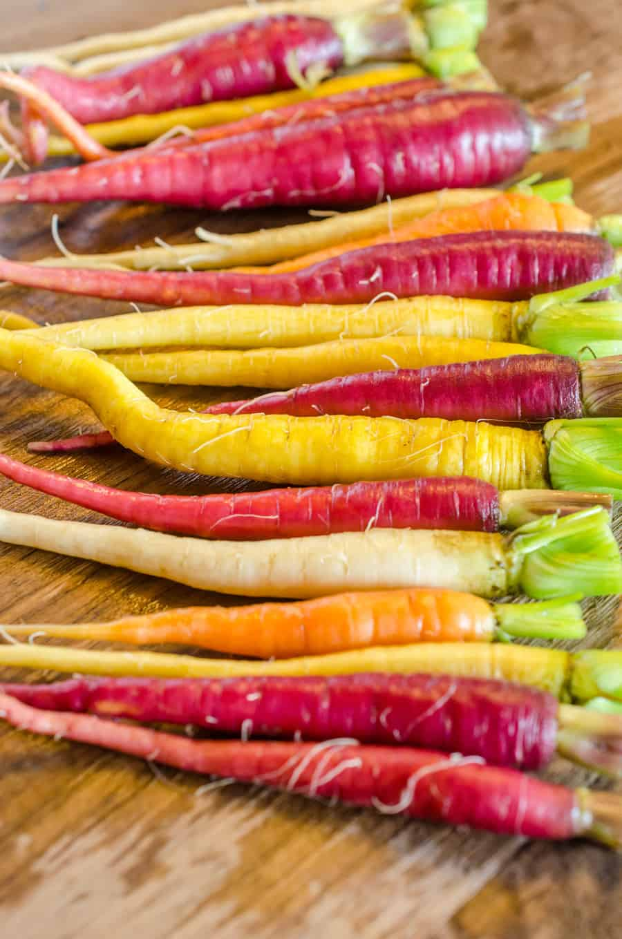 colorful carrots on a table