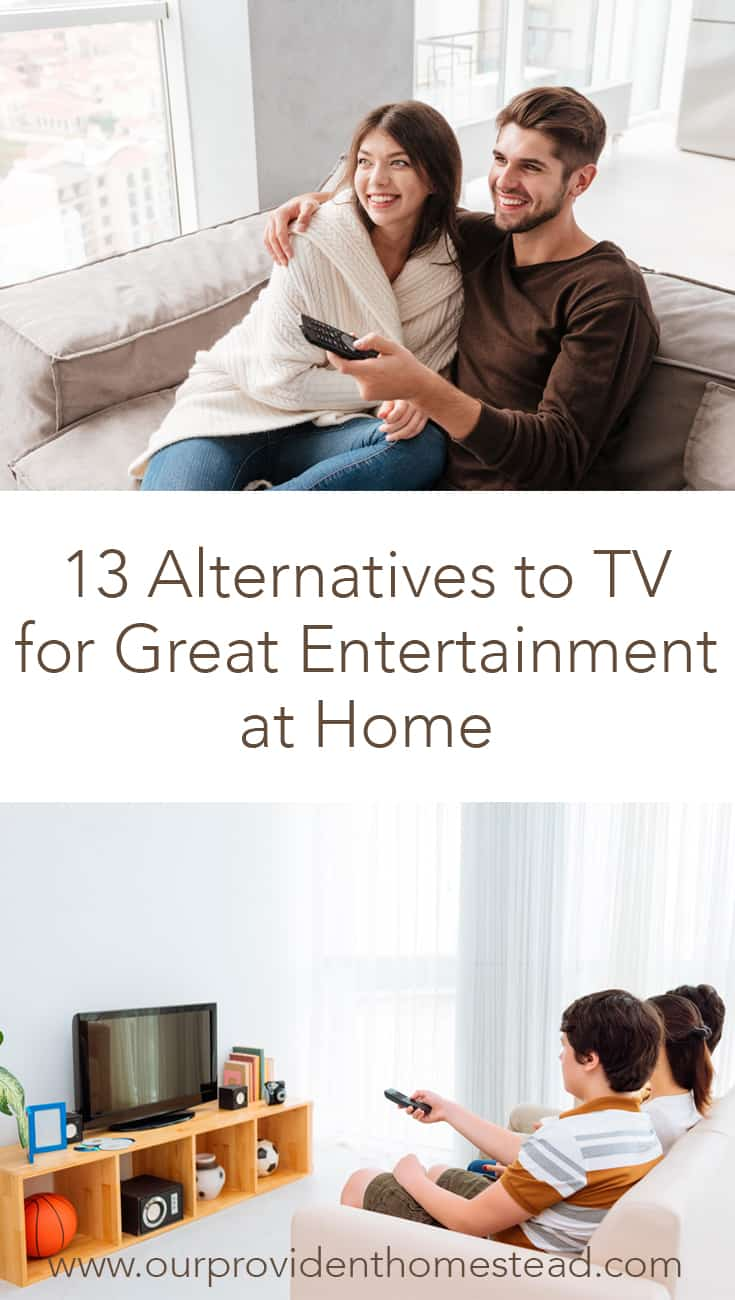 Are you looking to cut your cable or dish? Click here to see 13 alternatives to tv for great entertainment at home for your family at a reasonable price. #cutcable #moneysavingtips #cutthecord #cablealternative #tv #savemoney