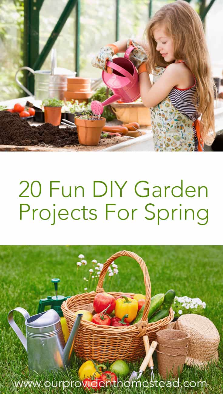 Are you looking for some fun garden projects to do with your family? Click here for 20 fun DIY garden projects for spring and make your garden a backyard oasis. #gardens #gardening #gardenideas #spring #gardendecor #diy