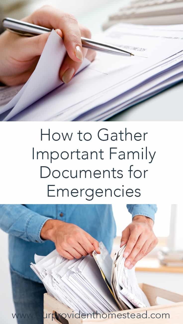How do you prepare for emergencies in your family? Gathering important documents is one way to be prepared when emergencies strike and keep your family safe. #SHTF #preparedness #survivaltips #survival