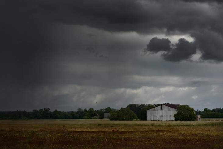 stormy sky in the country