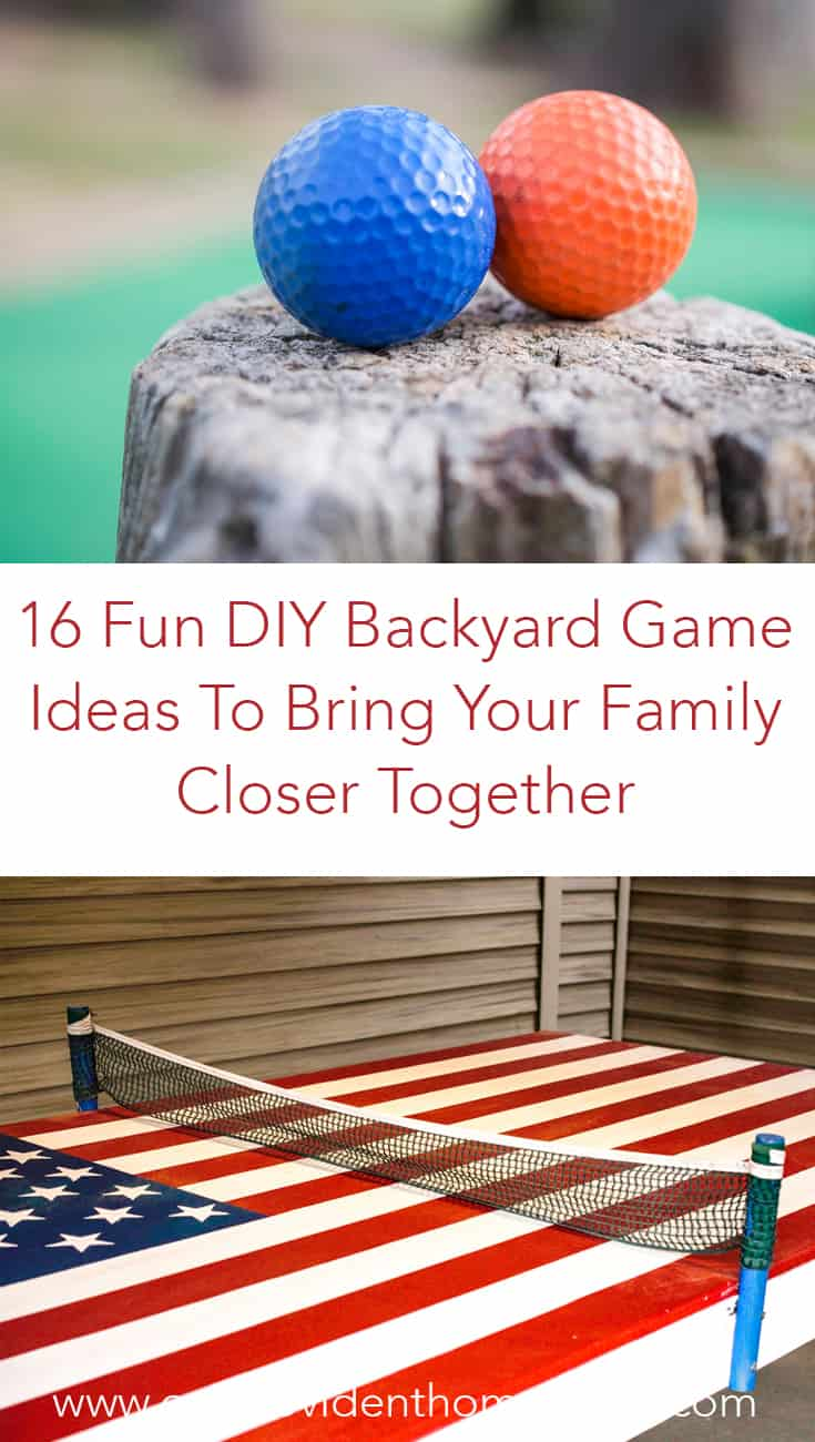Looking for family fun ideas for summer? Click here to see 16 fun DIY backyard game ideas and enjoy the outdoors with your family. #familygamenight #familyfavorites #backyardgames #outdoorgames