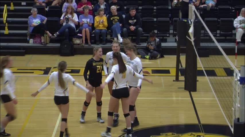 Bettendorf Volleyball wins 3-0 over Burlington