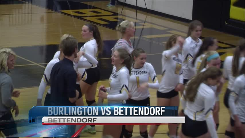 Bettendorf Volleyball wins in 3