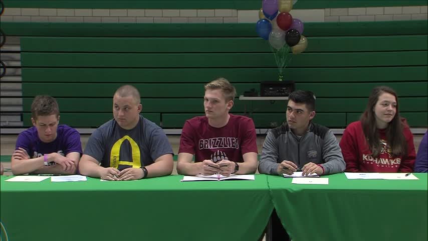 Alleman Signing Day event