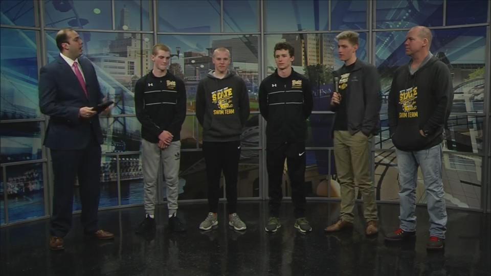 Part 2: Bettendorf swimming on Fox 18 Sports Sunday