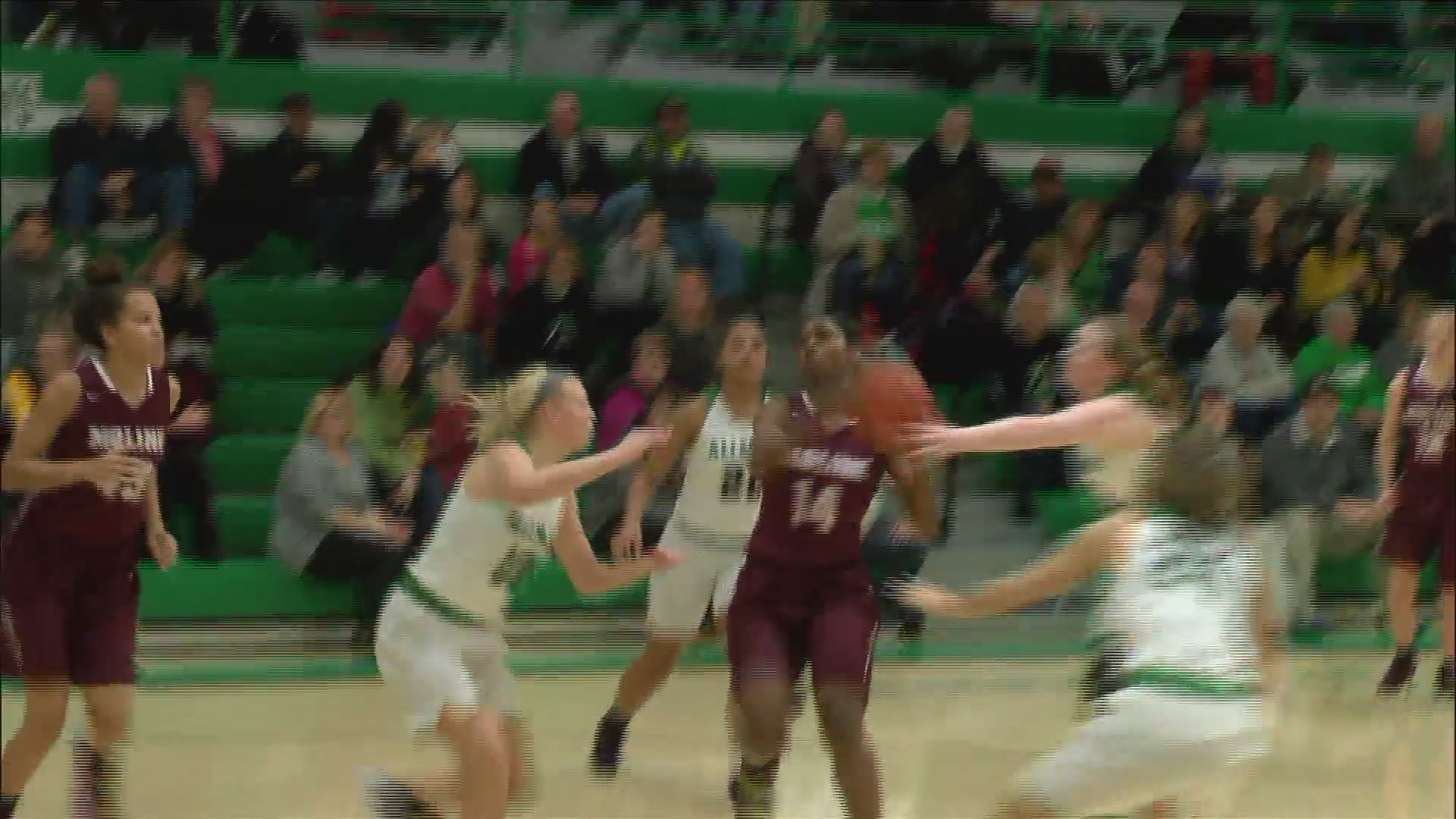 Moline girls basketball beats Alleman