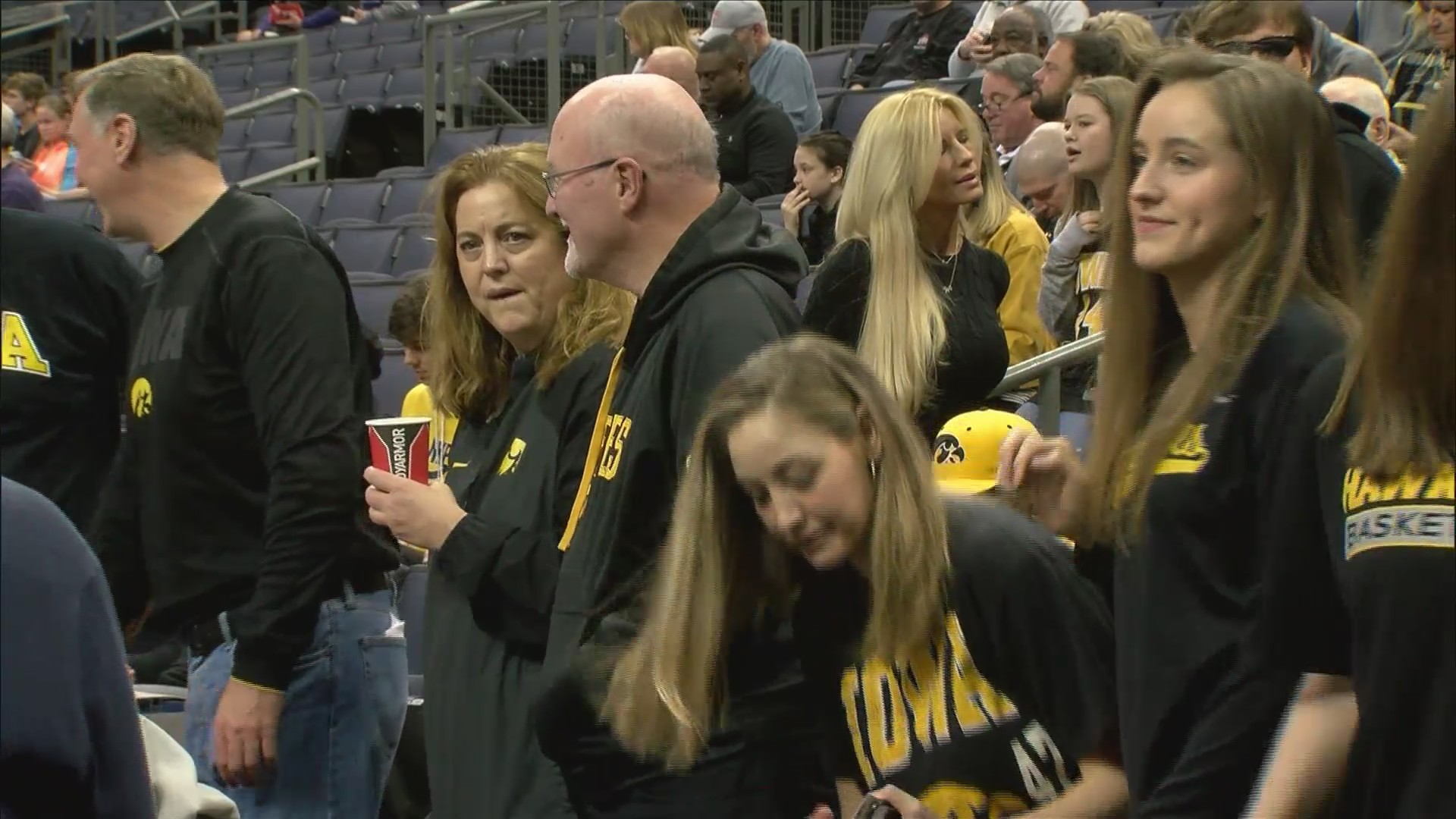 Nicholas Baer family support at Iowa.