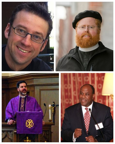 Clockwise from top left: Pr. Eric Andrae, Pr. Roy Coats, Dr. Leo Mackay, Pr. David Petersen.