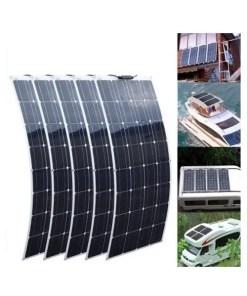 100W Flexible Monocrystalline Solar Panels for CarBoatRV 12V 24 Volt (Cover)