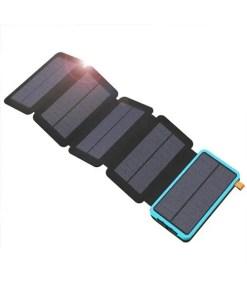 20000mAh - Folding Solar Panel Power Bank (Blue)