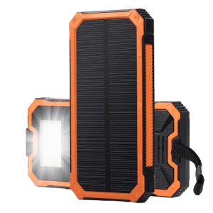 Orange - 15000mAh Smartphone Solar Power Bank