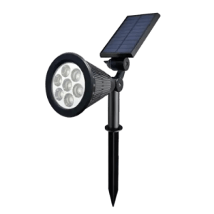 Warm White - 7 LED Solar Lawn Lamp Spotlight
