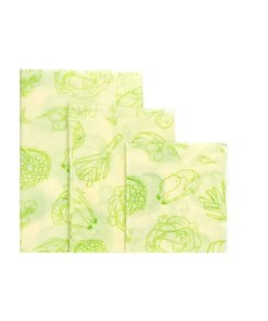 Reusable Cloth Beeswax Wrap - Vegetable 3 Wrap Set - Unwrapped 3 Set