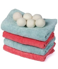 Reusable Organic Laundry Dryer Balls 6 pcs Set - Cover