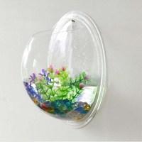 New Wall Mounted Fish Tank Bowl Bubble Aquarium Hanging ...