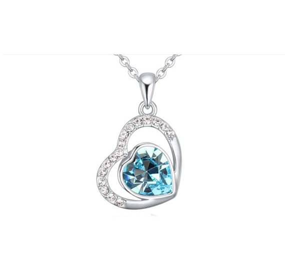 Buy Swarovski Elements 18K White Gold Plated Necklace