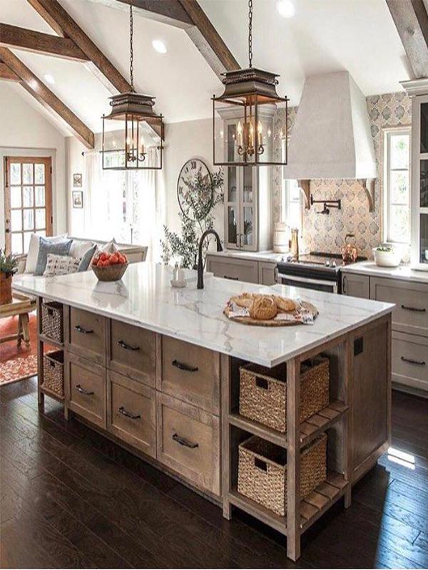 bright farmhouse kitchen inspiration