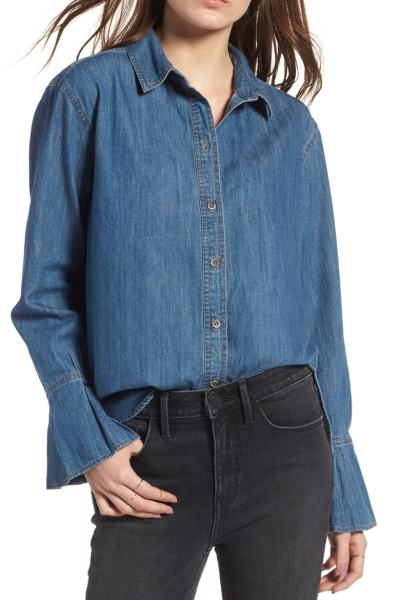 Must have denim tunic with amazing sleeve detail! #tunic