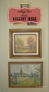 Vintage Wall Art {mini gallery wall}