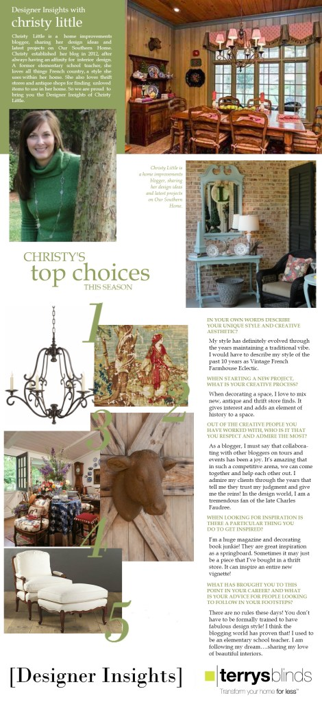 Designer Insights feature at Terry's Blinds