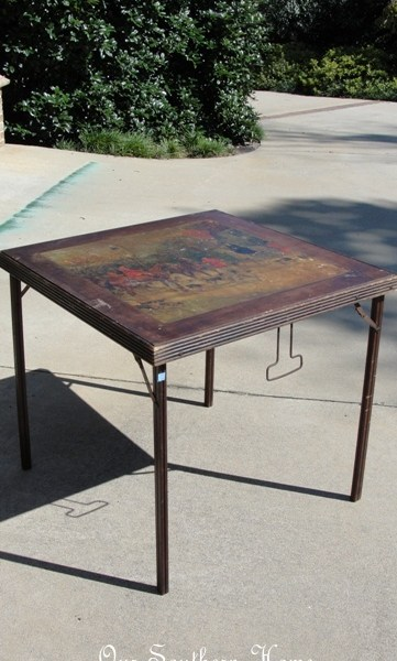 Thrifty Find {Vintage Card Table}