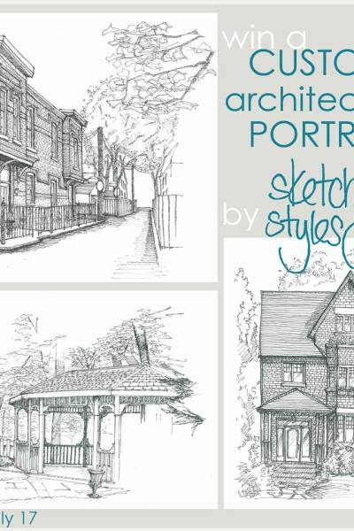 GIVEAWAY is going on NOW {Architectural Portrait}