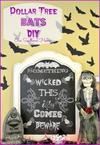DIY Dollar Tree Halloween Door Bats