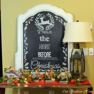 Christmas Chalk Art & Playroom Decor