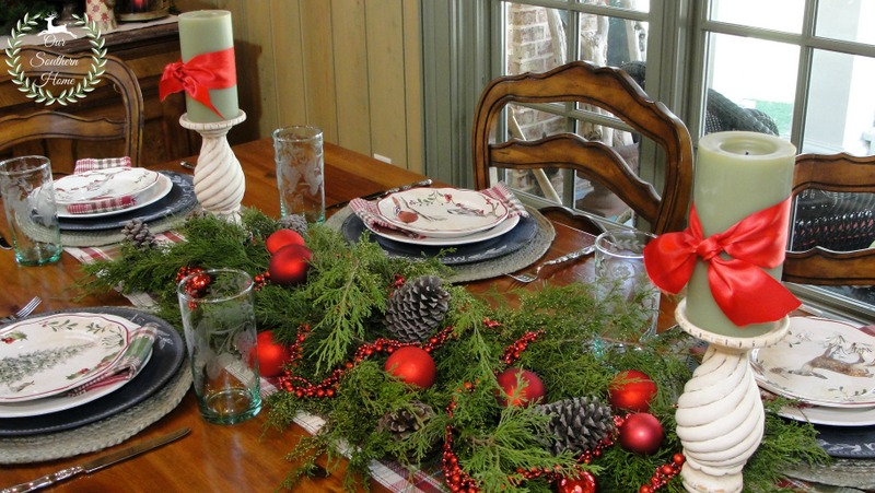 french country christmas tablescape