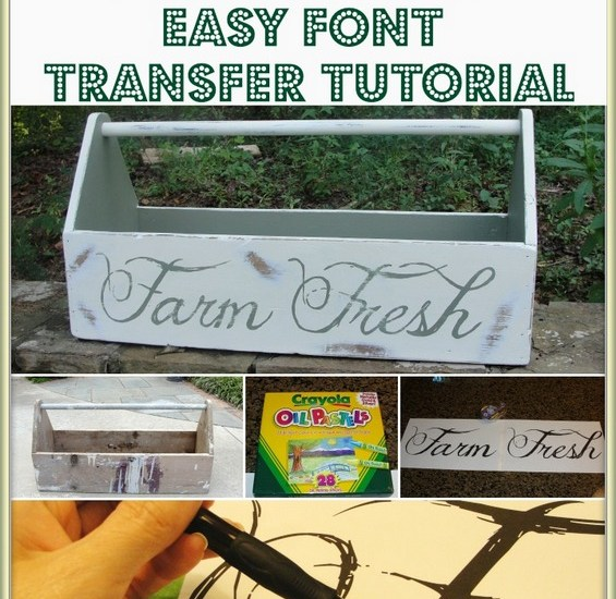Tool Box with Annie Sloan Chalk Paint and easy font transfer tutorial from Our Southern Home #ascp #anniesloanchalkpaint