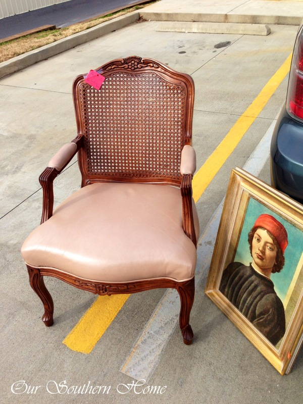 French Leather chair to repaint from Our Southern Home
