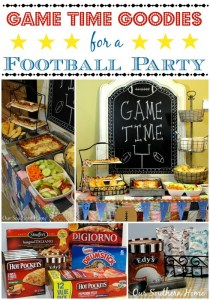 Game Time Goodies for a Football Party