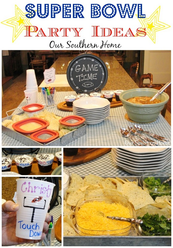 Super Bowl party planning from Our Southern Home