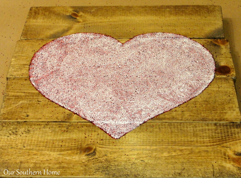 Mod Podge Heart Art from Our Southern Home