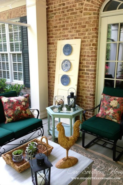 Screened porch tour from Our Southern Home
