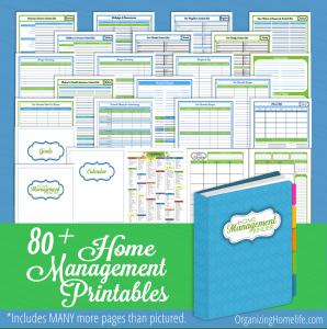 Organizing Homelife Home Management Binder Printables