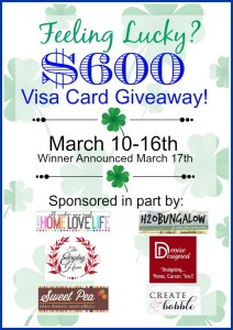 $600 Visa Card GIVEAWAY