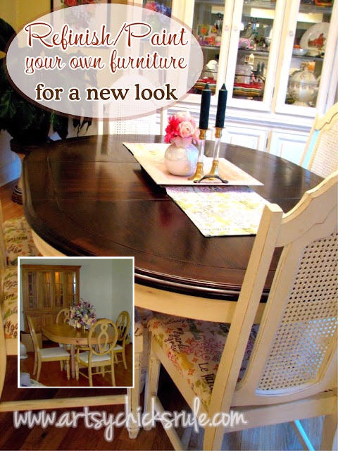 Dining Set After Paint-Refinish