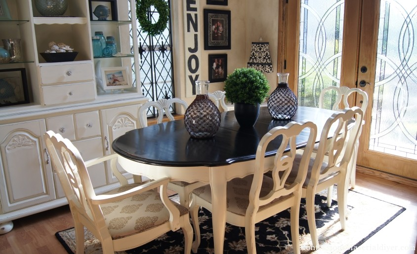 French Provincial Dining Table Makeover